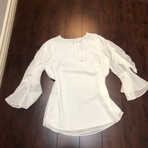 Calvin Klein bell sleeve blouse. New with tags
